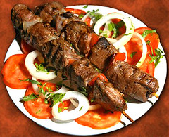 grilling, brochette, meat, greek food, produce, food, dish, shashlik, kebab, cuisine, souvlaki, skewer, grilled food,