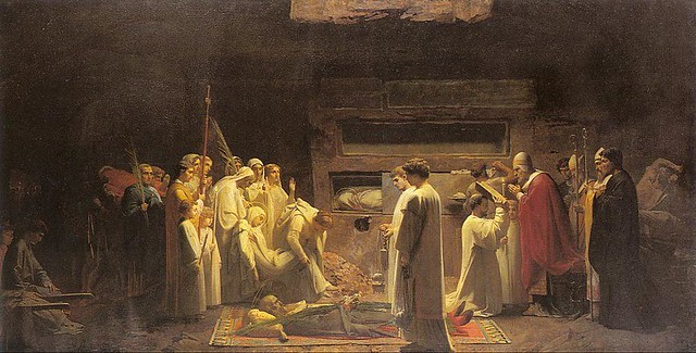 Jules Eugène Lenepveu, Mártires en las Catacumbas, 1855