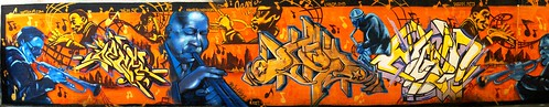 panorama orange graffiti dallas cool mural texas horns jazz thumbsup beer30 pickyourpoison
