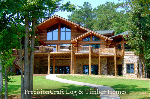 Georgia Handcrafted Custom Log Home By PrecisionCraft Log Homes