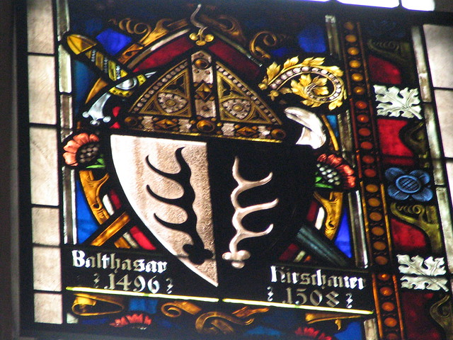 Heraldic stained glass in church in Berchtesgaden | Flickr - Photo ...