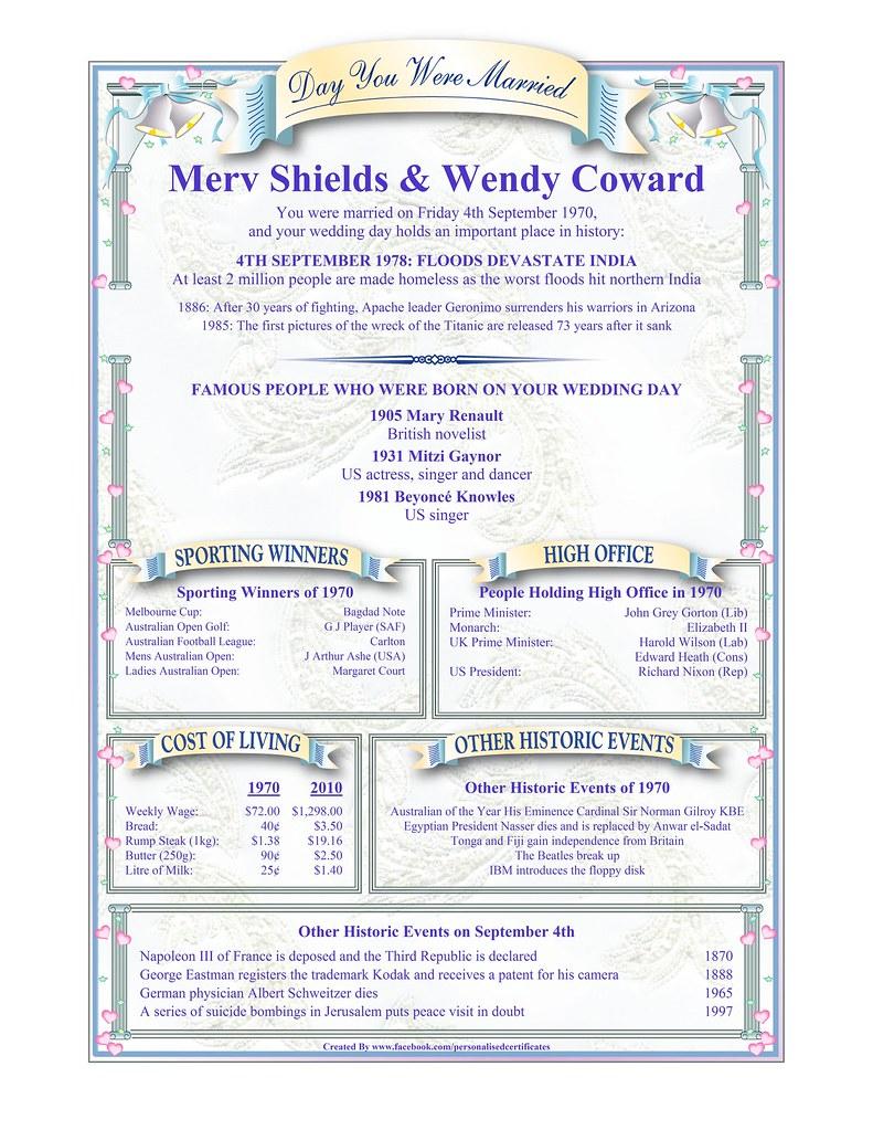 Merv Shields & Wendy Coward | Personalised Certificates | Flickr