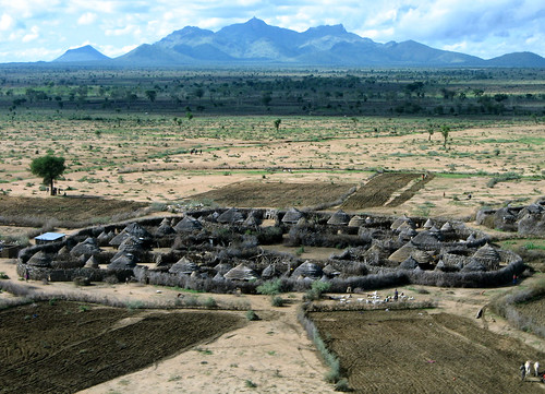 african village, karamoja, uganda