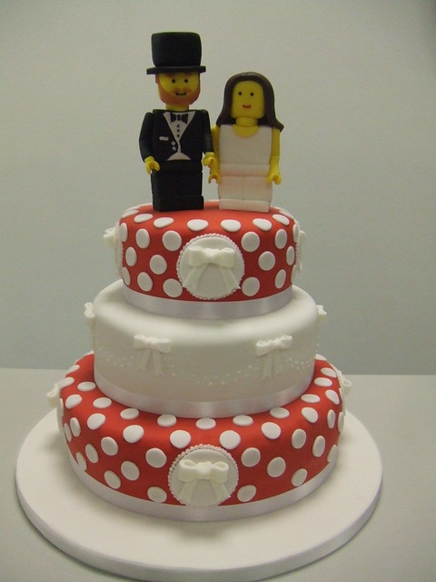 CAKE COOL WEDDING CAKE cake by Stace and lego topper by Jules