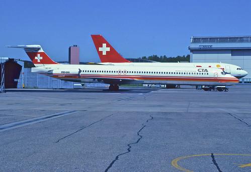 CTA MD-83; HB-IUI, May 1992/ CKE