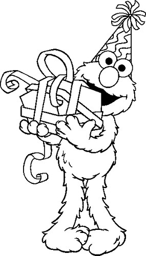 Cb Elmo Birthday Sm Flickr Photo Sharing Elmo Birthday Coloring Pages