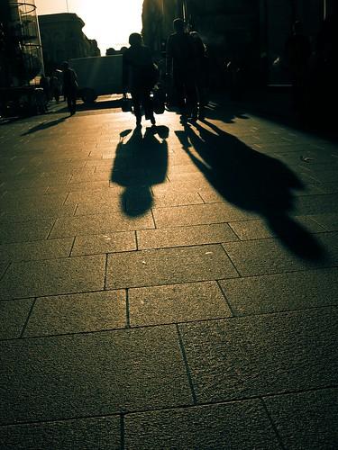 ireland sunset dublin shadows pavement gimp splittoning