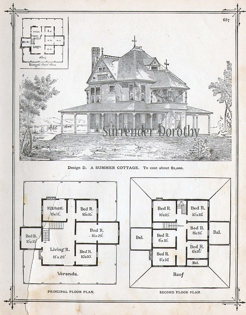 1881 plan d summer cottage flickr photo sharing for Summer cottage house plans