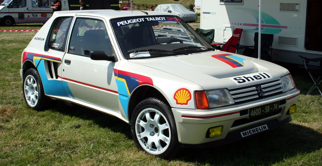 peugeot 205 gti rally car - a photo on flickriver