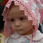 Russian Baby at Market  - Khiva, Uzbekistan