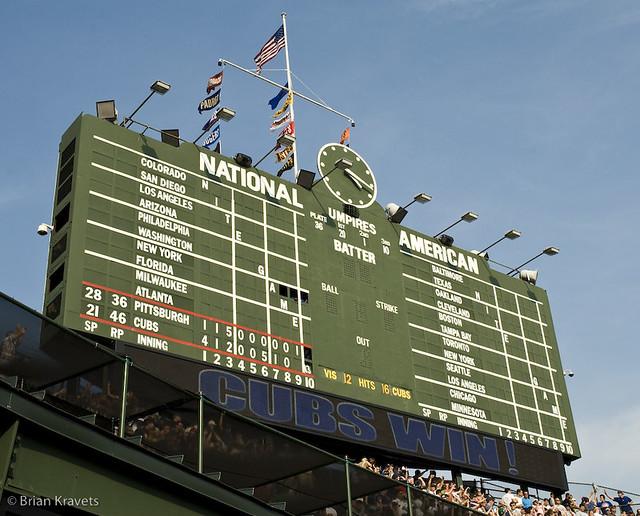 Wrigley Field Scoreboard Field Scoreboard Messages