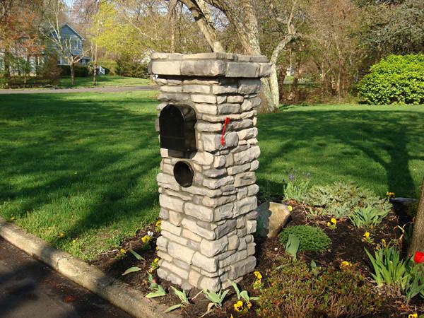 Stone Mailbox Pillars : Ce z g