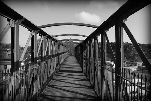 Black Bridge; Great Western Railway foot-bridge at Truro Station by Stocker Images
