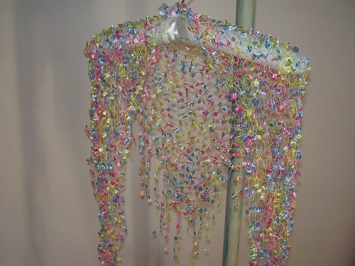 "Knitted Shawl ""Rainbow Drops"" by BabsKibs"