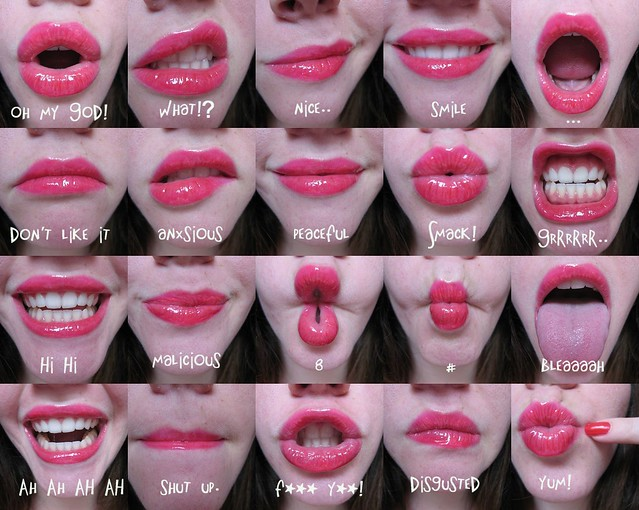 mouth expressions.