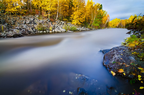 blue autumn trees red orange brown fall water leaves yellow river flowing colorfultrees