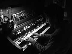 keyboard player, musician, pianist, musical keyboard, keyboard, music, jazz pianist, monochrome photography, monochrome, black-and-white, black, electronic instrument,