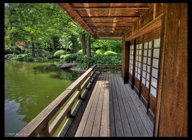 Japanese deck flickr photo sharing for Japanese decking garden