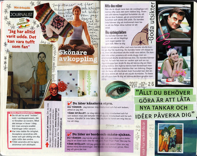 Diary Collage: Avkoppling by Hanna Andersson, do not pin this image please