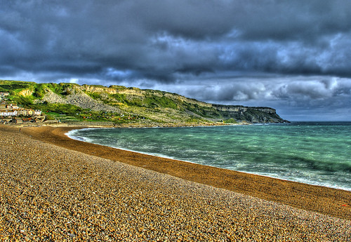 chesil cove, august!