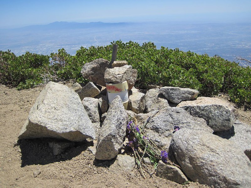 >Cucamonga Peak summit cannister