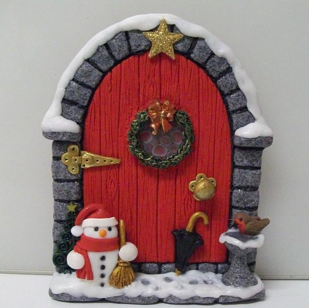First christmas fairy door of the year flickr photo for Elf door ideas