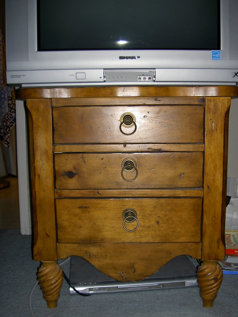 $20 Rustic pine side table or TV stand