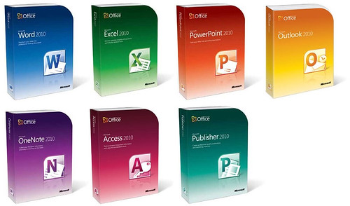 Office 2010 box art packaging for standalone apps - Office software applications ...
