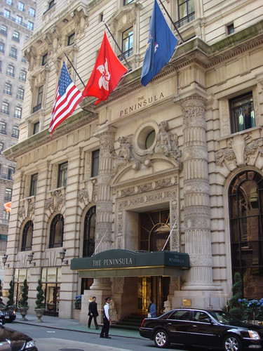 Best world hotels and spas peninsula hotel new york for Famous hotel in new york
