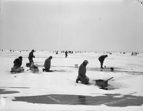Vintage Ice Fishing Michigan Flickr Photo Sharing