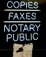 'copies faxes notary public' by cinnamonster