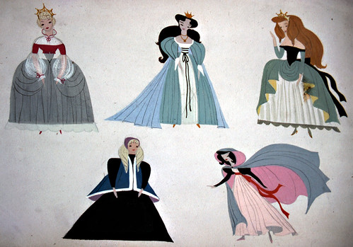 Cinderella's many dresses