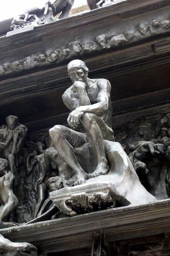 Paris - Musée Rodin: La Porte de l'Enfer - Le Penseur
