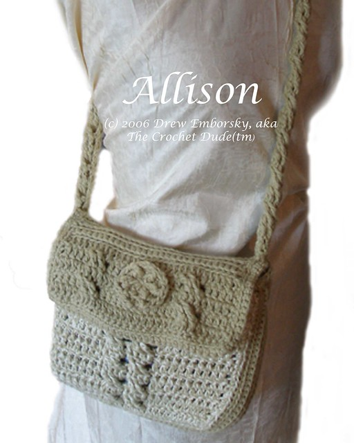Crochet Crossbody Bag Pattern : Allison - a crossbody purse to crochet Flickr - Photo Sharing!