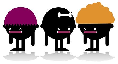Ilustración (¿Cuál de los 3 muñecos será el vegetariano?)