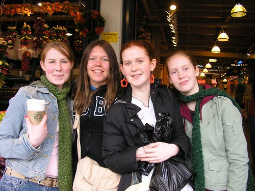 Jana and the Nieces at Pike Place Market