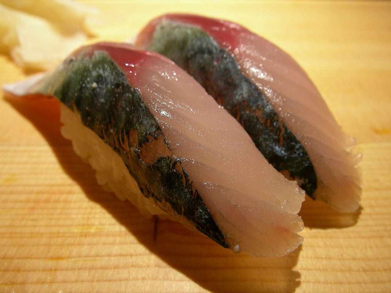 sushi @ sushizanmai (tsukiji) 関サバのにぎり