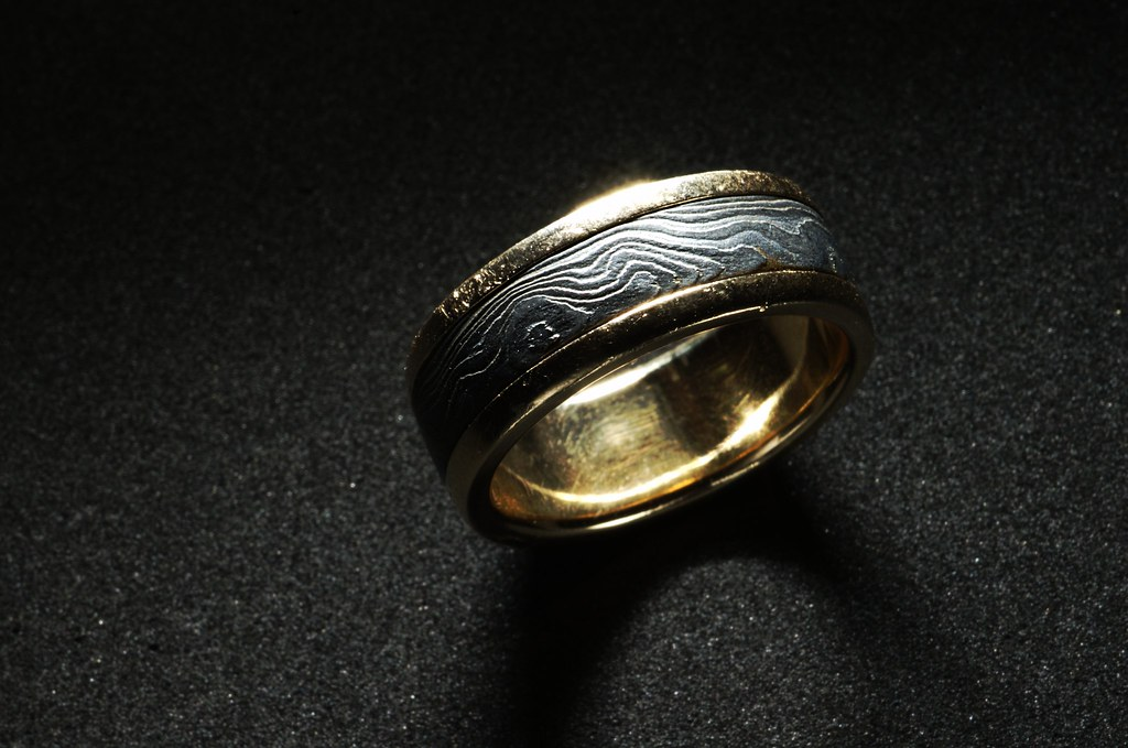 damascus steel ring 126 - Damascus Wedding Ring