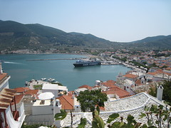 Skopelos city - port view