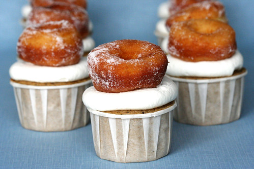 Doughnuts and Coffee Cupcakes