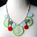 Crochet Necklace Cherry Limeade