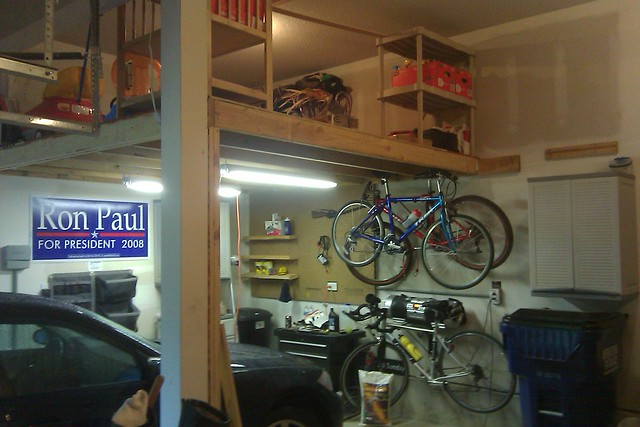 New garage loft flickr photo sharing for Building a loft in a garage