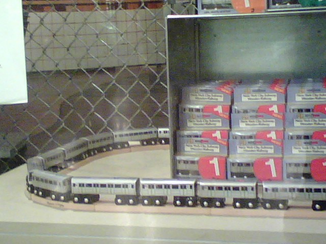 Wooden subway cars at the transit museum store at grand for Ny transit museum store