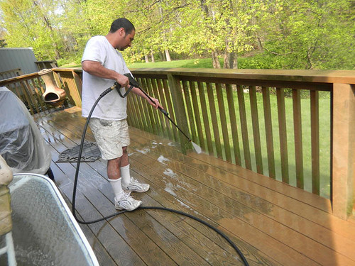 Pressure Washing Exterior Deck in Maplewood New Jersey