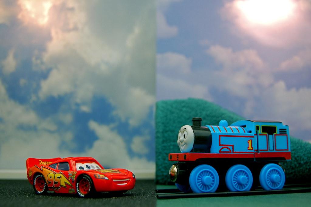 Lightning McQueen vs. Thomas the Tank Engine (311/365)