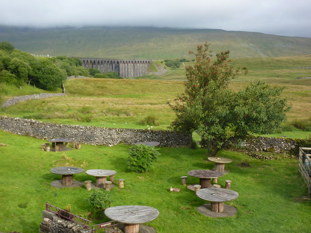 View from my room at the Station Inn at Ribblehead