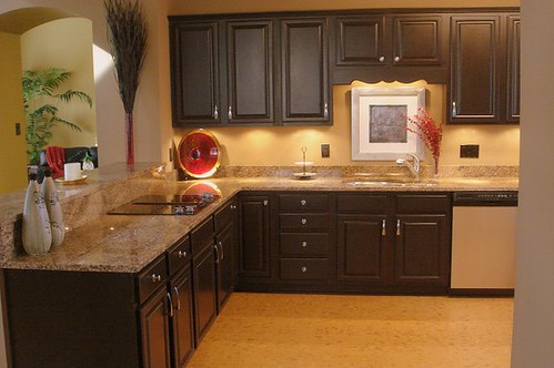 Kitchen Makeover with Black Cabinets  Flickr  Photo Sharing!