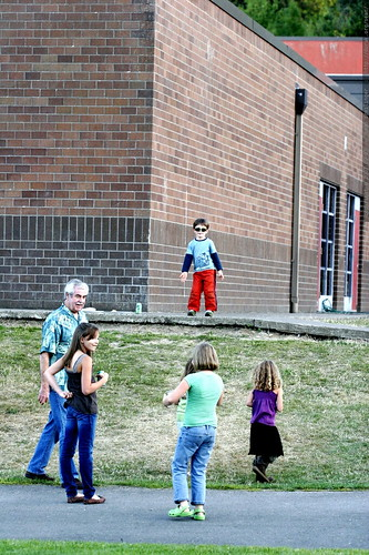 cool pre schooler nick, dancing by himself at the school picnic    MG 3856