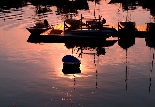 Late evening in Rockport, Massachusetts