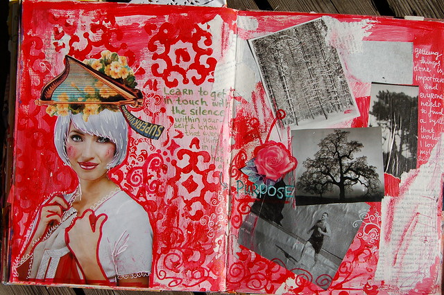 Art Journal Spread of Purpose by iHanna, 2007